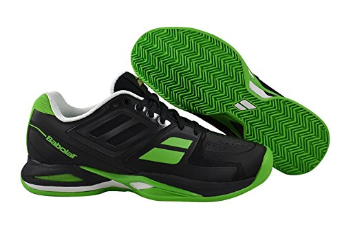 Green Clay Tennis (Babolat P Team BPM Clay Padel Men black/green Gr. 42.5)