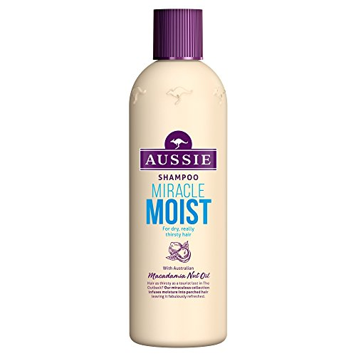 Aussie Miracle Moist Shampoo for Dry, Really Thirsty Hair, 300 ml