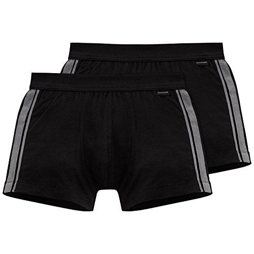 Schiesser Herren Unterhose 2er Pack, Schwarz (schwarz 000), X-Large (Herstellergröße 007) (Hintern, Unterwäsche)
