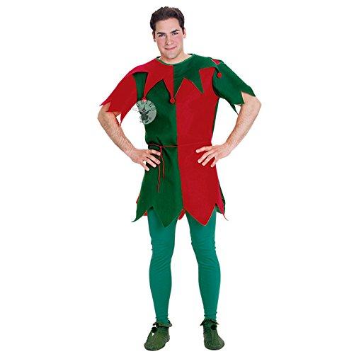 Rubies Herren Elf Tunika für Erwachsene Christmas Fancy Dress Party Kostüm Outfit - Little Christmas Elf Kostüm