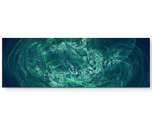 Das Seehaus - Sinus Art Wandbild auf Leinwand ENIGMA SERIE 150x50cm