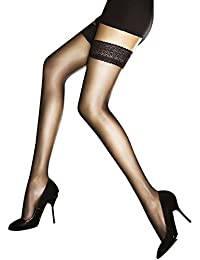 Fiore Women's Edith/Sensual Hold-up Stockings, 7 Den