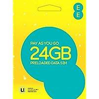 EE PAYG SIM Card Preloaded with 24 GB of 4GEE Data