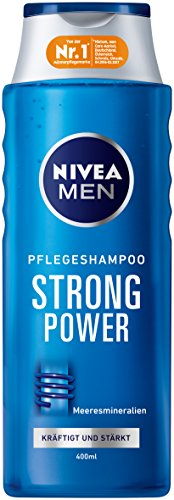 NIVEA 3er Pack Men Haar-Pflegeshampoo, 3 x 400 ml Flasche, Strong Power