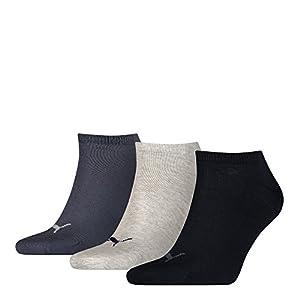 Puma, 6 Paar Sneakersocken (43/46, Navy-Grey-Blue)