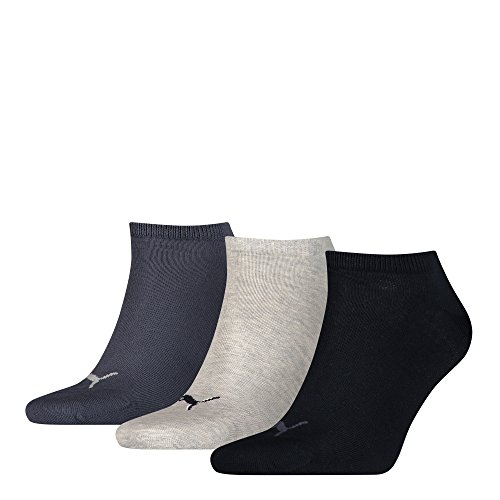 Puma Herren Unisex Socken Plain, 3er Pack, Blau (Navy/Grey/Nightshadow Blue), Gr. 43-46 (Navy Rugby Blau Damen)