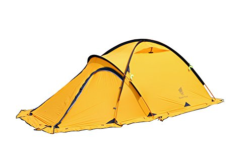 GEERTOP® 4-season 2-person 20D Lightweight Backpacking Alpine Tent For Camping, Hiking, Climbing, Travel - With A Living Room (Yellow)