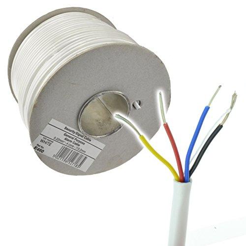 Kupfer-systeme (4 Kern Kupfer Signal Kabel Für Alarm oder Intercom Systems 100 m Weiß)