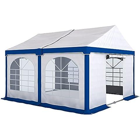 PARAMONDO Tienda para fiestas y eventos Cenador Partyzelt Flex S, 4 x 4m módulo básico, Blanco-Azul