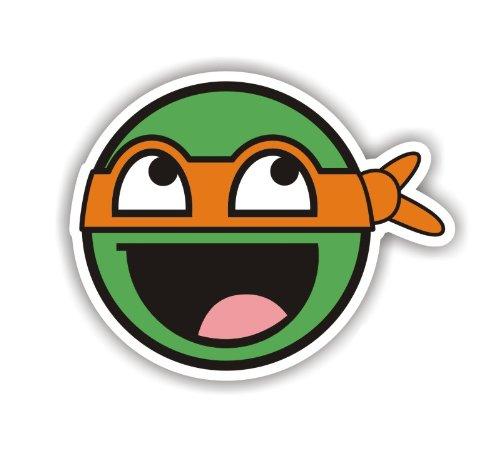 Sea view Stickers Teenage Mutant Ninja Turtle orange Auto Van Aufkleber