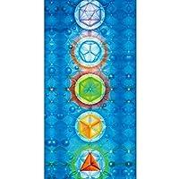 Glareshop Decke/Yogamatte/Strandtuch mit Regenbogen und 7 Chakren, Mandala, Bohemia-Stil
