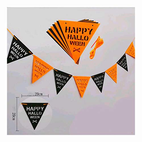 Halloween Double-Layer-Filzstoff Holiday Party Mall Schaufenster Dekoration (Color : Triangle)