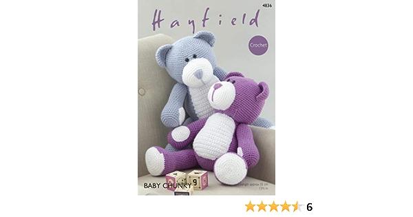 CROCHET PATTERN pour Teddy Bear Hayfield 4836 231
