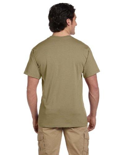 Jerzees 5.6oz 50/50Heavyweight Blend Pocket T-Shirt Gr. Medium, Khaki (Baumwolle-khaki Jerzees)