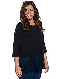 Ulla Popken Femme Grandes tailles T-shirt long 707385