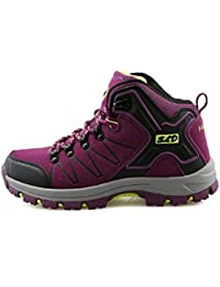 TQGOLD Chaussures de Randonnée pour Homme Femme, Outdoor Sports Cuir Imperméable Boots Marche