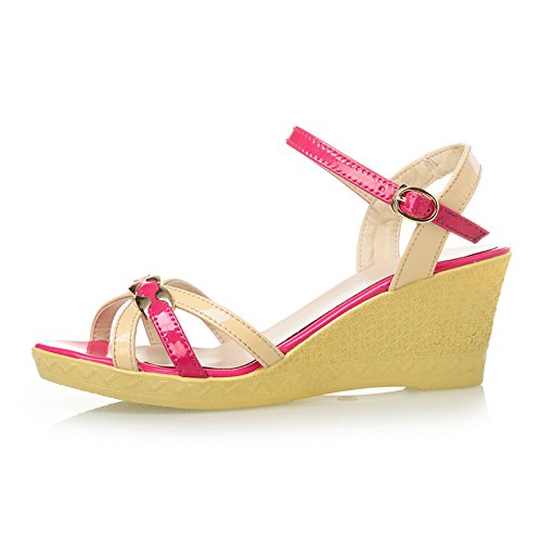 alto femminile pendio Bengal tacco sandali pendenza con estate Color con con Fashion o Rose La in sandali Torre EqBg4tE