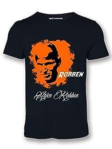 Sportskeeda Netherlands Arjen Robben WC 14 Football T-shirt Black - XXL