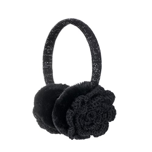Sudawave paraorecchie regolabile invernale da donna maglia con finta pelliccia per esterni Ear Warmers