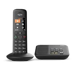 Gigaset C570A schnurlos Telefon mit Anrufbeantworter (Komfort-Telefon mit großer Nummernanzeige, DECT-Telefon mit Farbdisplay, einfache Bedienung) schwarz