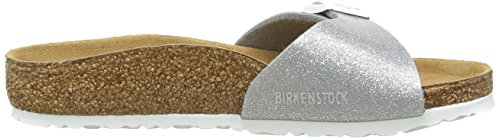 Birkenstock Madrid, Mules Fille Argent (Magic Galaxy Silver)