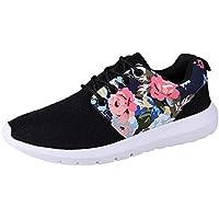 Mujer zapatos de malla floral estampado,Sonnena ❤️ Sneakers Mujeres Entrenadores Transpirable Imprimir Zapatos casuales de flores Malla baja superior zapatos