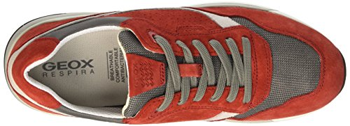 Geox U Goomter C, Sneakers Basses Homme Rouge (Red/Anthracitec7V9A)