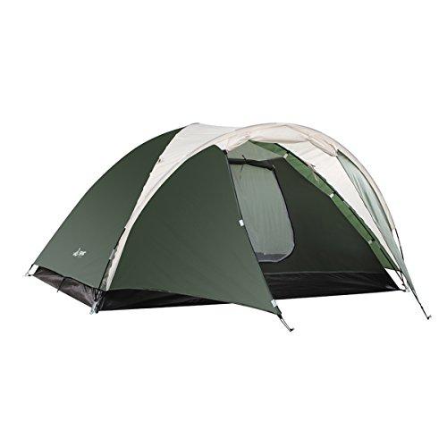 Semoo Tente campagne étanche famille, 3-4 personnes, 4 saisons, 320 x 240 x 130 cm, double couche et moustiquaire, comprend un sac de transport