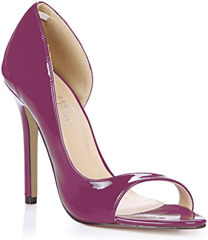 Las mujeres solteras nuevo período anual de sesiones del alto-Heel Shoes discotecas grandes perla Roja lateral...
