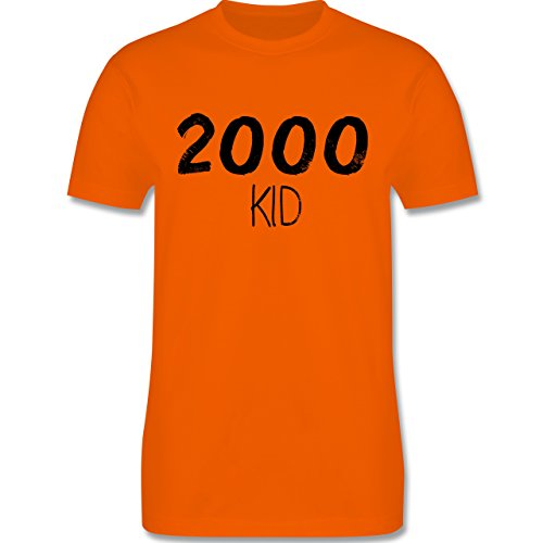 Shirtracer Geburtstag - 2000 Kid - Herren T-Shirt Rundhals Orange