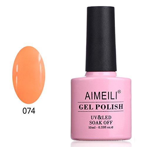 Aimeili smalto semipermente per manicure smalti per unghie in gel soak off uv led - light orange (074) 10ml