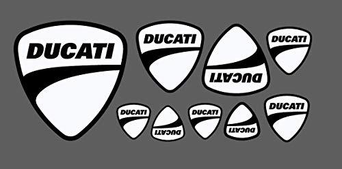 9 Aufkleber Ducati Corse Weiß Neu Motorrad Gp SBK Desmosedici