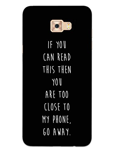 MADANYU Go Away from My Phone Quote Designer Printed Hard Back Shell Case for Samsung J7 Prime/Samsung On7 Prime