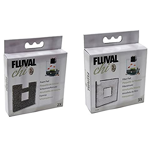 Fluval Chi Aquarium 19 & 25L Filtermedia Bundle Filter Pads