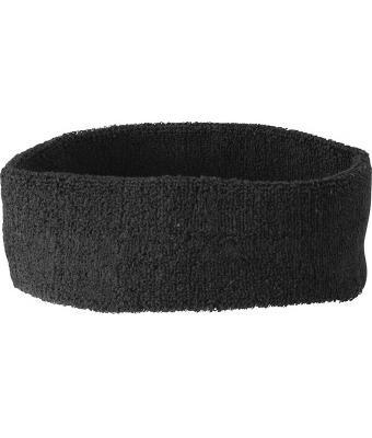 mb-headband-sweatband-15-colours-terry-cloth-sports-leisure-black