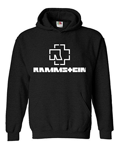 """Felpa Unisex """"Rammstein"""" - Felpa con cappuccio rock metal LaMAGLIERIA, XL, Nero"""