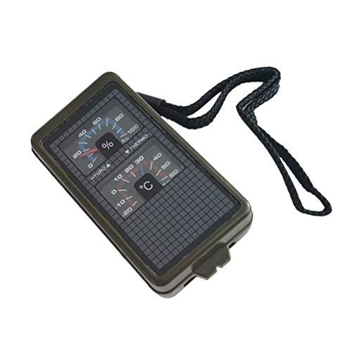 LIOOBO 10 in 1 Multifunktions Outdoor Survival Militär Camping Wandern Kompass Werkzeug Kit (grün)