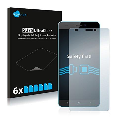 Savvies Schutzfolie kompatibel mit Oukitel C3 (6 Stück) - ultraklare Bildschirmschutz-Folie