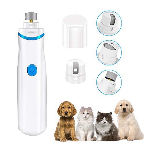 ShinePick Lima de Uñas Eléctrica para Mascotas,Bajo Ruido Seguro Amoladora Eléctrica para Mascotas para Perros y Gatos/Kit de Aseo para Mascota