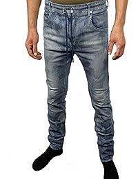Gaz Jogg Jeans + pantalon de jogging/Sport pour Homme Pantalon, combiné dans une, Denim Blue Camouflage, Men's Sweat Pants, moulant ~ Skinny-Leg/slim fit