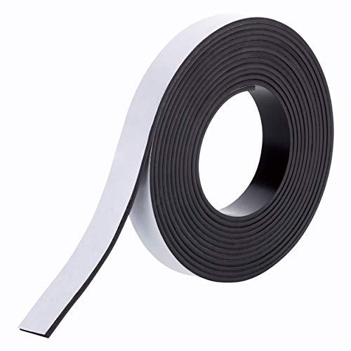 Extra starkes Magnetband, selbstklebend, 3m x 15mm x 2mm, 3 Meter magnetisches Klebeband