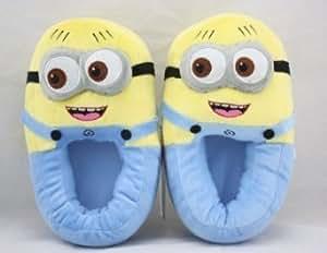 Hot Despicable Me Cattivissimo Me 3D Plush Slipper Laugh Minions Stewart Figure Shoes Pantofola
