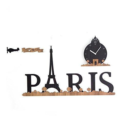 Horloge murale Creative Paris européenne Personnalité Art Enfant Cartoon Décoration Woody Horloge 18 Pouce