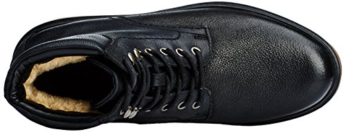 Clarks Frelan, Botines Negros Para Hombre (black Wlined Lea)