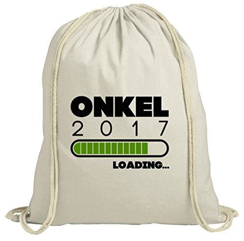 Geschenkidee natur Turnbeutel mit Onkel 2017 Loading... Motiv von ShirtStreet Natur