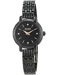 94918bbbe8039 Hugo Boss Ladies Success Women's Quartz Black Analogue Classic Black  Stainless Steel Bracelet 1502387