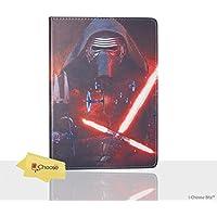 Apple iPad 2,3,4 Folio Star Wars Case / Protective PU Leather Smart Flip Cover / iCHOOSE / Kylo Ren Tie Fighters