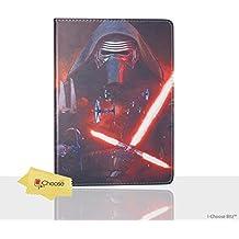 Apple iPad 2,3,4 Star Wars Caso Folio / Cubierta Protectora de La PU del Cuero Elegante de PU / iCHOOSE / Kylo Ren Tie Fighters