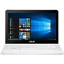 "ASUS E200HA-FD0041TS - Ordenador portátil de 11.6"" (Intel Atom x5-Z8350, 2 GB de RAM, 32 GB eMMC, Intel HD Graphics, Windows 10 Original), blanco - Teclado QWERTY Español"
