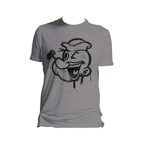 popeye-face-art-grey-grau-t-shirt-men-herren-size-grosse-xl